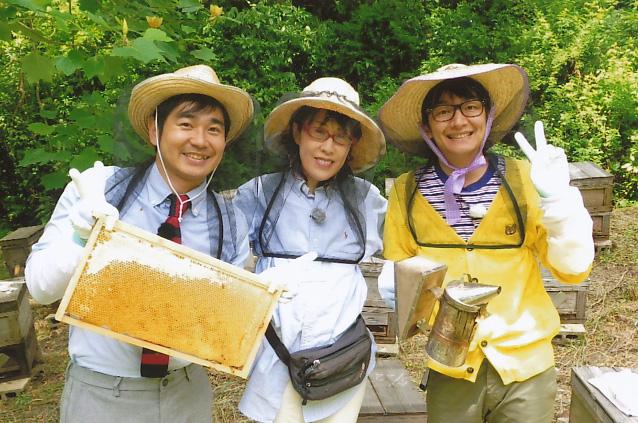 NHK総合1「初夏の旬いただきます」ハマカーンのお二人とロケしました。